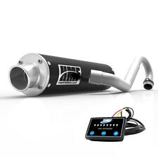 HMF Performance Full System Exhaust Pipe Black + EFI Optimizer Brute Force 750