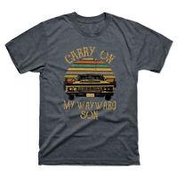 Carry on My Wayward Son Vintage Retro Men's Short Sleeve Tee Cotton T Shirt Top