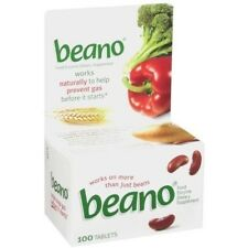 Beano Enzyme Dietary Supplement, Prevent Gas & Bloating 100 TABLETS X 3