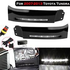 L&R LED Built-In Daytime running lights DRL Fog lamp For 2007-2013 Toyota Tundra