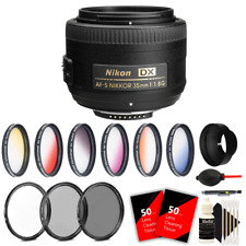 Nikon AF-S DX NIKKOR 35mm f/1.8G Lens + 52mm Filter Accessory Kit