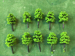 Z Scale   Set Of 10 Trees , Forest, Foliage, Scenery, (JED113e)