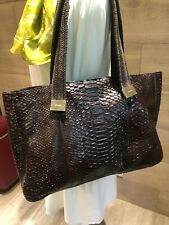 kate spade new york real snakeskin leather brown large handbag tote