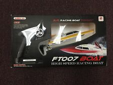 NEW IN BOX:YELLOW FT007 2.4GHz 4 Channel Water Cooling High Speed Racing RC Boat