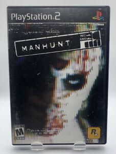 Man Hunt Sony Playstation 2 PS2 CIB Complete Black Label NTSC Rockstar Manhunt