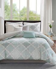Madison Park Cadence Geometric 9 Piece Cal King Comforter Set Aqua Bedding I189