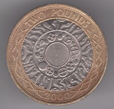 United Kingdom £2 Pounds 2000 Copper-Nickel Brass Coin - Iron Age to Internet