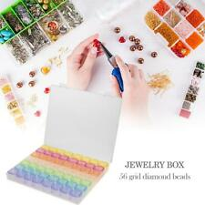 56 Grids Jewelry Box Diamond Embroidery Crystal Bead Organizer Storage Case