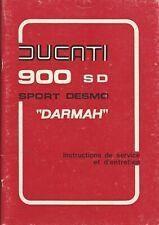 DUCATI  900 SD DARMAH Manuel du Propriétaire  en FRANCAIS SEPTEMBRE 1979