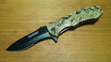 """TAC-FORCE 8"""" Green CAMO ASSISTED OPEN KNIFE Practical Tactical EDC Outdoor NIB"""