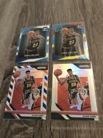 John Collins Optic Rated Rookie - Silver Prizm - 2 Rookie Cards - 4 Card Lot