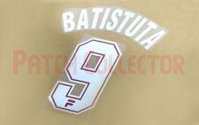 Batistuta #9 1997-1998 Fiorentina Home Nameset - 2 layer