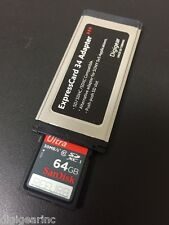 Sony SXS PRO Card replacement: SDXC to Expresscard adapter Sandisk 64GB SD Refur