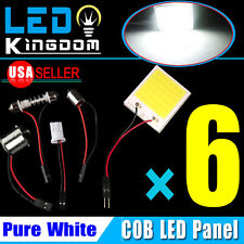 6XWhite 48Chips COB LED Panel RV Dome Map LED light+1156 T10 BA9S Festoon Adater