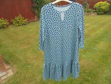 Boden Drop Taille Kleid Größe 8 Reg Blue Multi-Colour Floral Print