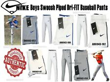 Style AH6943 Nike Boys Swoosh Piped Dri-FIT Baseball Pants brand new with tags