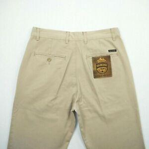 Highland Ridge - Wrinkle Free Beige Chino Pants Men's Size 32  by Lowes