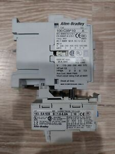 Allen-Bradley 100-C09*10 Contactor Series A 600VAC 25A Coil With 193-EA1EB Timer