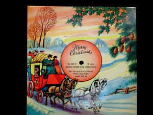 VINTAGE 1950's MELODY CHRISTMAS CARD MX17 PLAYABLE 78rpm 'RIDING HOME FOR XMAS'