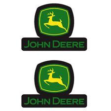 John Deere Logo Decal 2pc 2 x 2 5/8