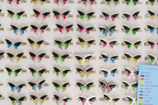 Wholesale 20pcs Lots Jewellery Change Color Butterfly Silver Plated Mood Rings