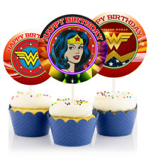 12 Wonder Woman Symbol Inspired Party Picks, Cupcake Toppers #1