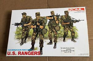 DML 1:35 Scale U.S. Rangers Plastic Model Kit No. 3004 (2 Kits In Same Box)