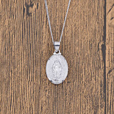 Catholic Virgin Mary Pendant Necklace Silver Gold Chain Amulet Jewelry Gifts