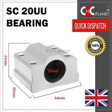 SC20UU LINEAR MOTION 20MM SHAFT SLIDING BEARING BLOCK 20MM BORE SC 20UU UK FAST