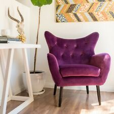 Swell Purple Velvet Accent Chairs For Sale Ebay Machost Co Dining Chair Design Ideas Machostcouk
