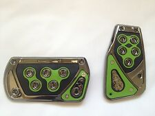 Voltage Green 2 pc Foot Pedals Pads Covers Automatic Transmission A/T