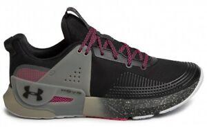 Under Armour UA HOVR Apex Mens 8.5-14 Training Shoes Black/Green 3022206-010 NEW