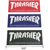 "Thrasher Magazine Logo Rectangle Sticker 9.25"" Skateboard Decal 3 Color Choices"