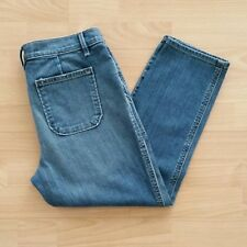 Ann Taylor LOFT Women's Relaxed Skinny Cropped Jeans Utility Jeans Size 28 / 6 P