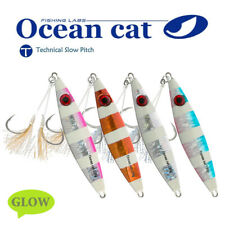 Slow Fall Pitch Fishing Lures Sinking Lead Metal Flat Jigs Jigging Bait Hook