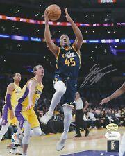 Donovan Mitchell signed Utah Jazz auto 8x10 rookie photo (JSA & MITCHELL COA)