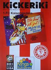 Programm 1996/97 SC Fortuna Köln - Kaiserslautern