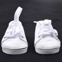 Handmade Canvas White Shoes For 18inch Girl Doll Cute Baby Hot Kids Dlxq Q4C1