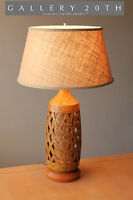 FANTASTIC! MID CENTURY DANISH MODERN TABLE LAMP! 50S VTG SCULPTURAL RAYMOR RETRO