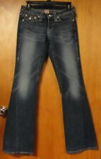 Womens True Religion Pearl Buttons & Rivets Jeans, Size 27