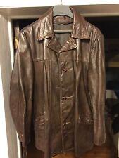 Men's Dark Brown Vintage Leather Coat Jacket