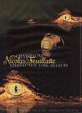 PUBLICITE ADVERTISING   2000  NICOLAS FEUILLATTE champagne
