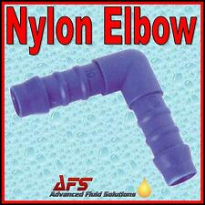 90 ELBOW Barbed NYLON Hose Joiner Inline Connector Fuel Air Silicone Rubber Pipe