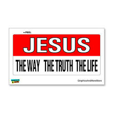 Jesus The Way Truth Life Christian - Window Bumper Locker Sticker