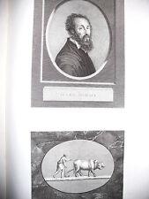 GIULIO ROMANO Acquaforte originale 1804 GALLERIA DI FIRENZE.RITRATTO