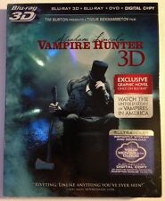 ABRAHAM LINCOLN: VAMPIRE HUNTER 3D!! 3-Disc DVD+ Digital + Blu-ray NEW!!