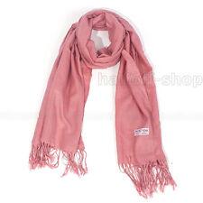 Womens Fashion Pashmina Cashmere Solid Scarves Stole Shawl Wrap Scarf