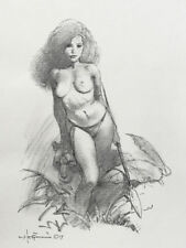MIKE HOFFMAN COMMISSION NUDE PENCIL DRAWING!  You Choose the Subject!