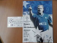 Champions League Football Programmes with Match Ticket