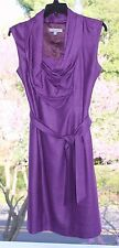 Gorgeous! Classiques Entier Purple Lined Dress sz 2 w/ Tie Belt & Slit
